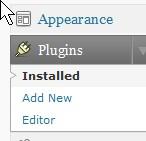 Appearance>Plugins