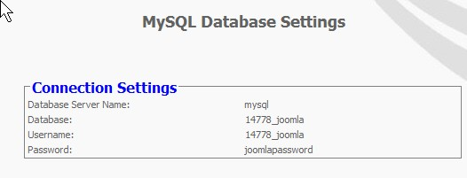 Information about your mySQL database