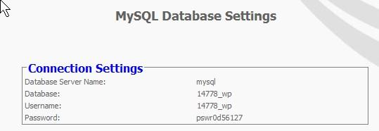 Wordpress MySQL Database