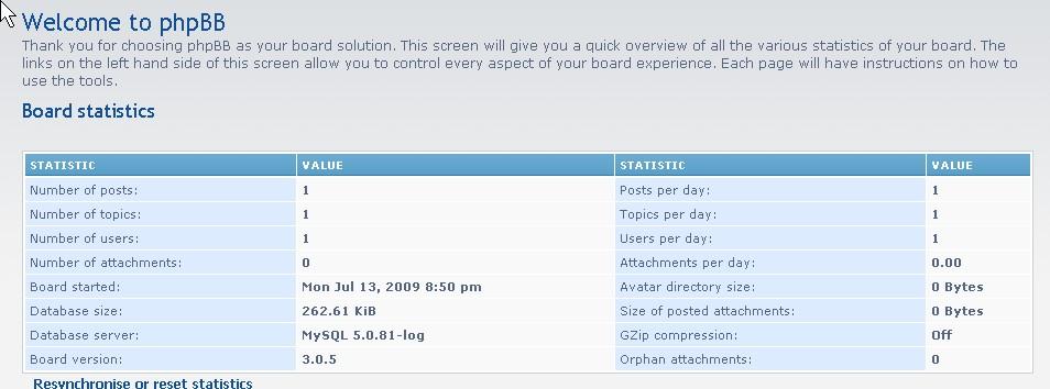 phpbb3 administrator control panel