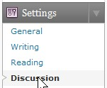 Go to Settings then discussions on Left side bar