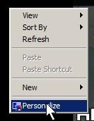 right click personalize