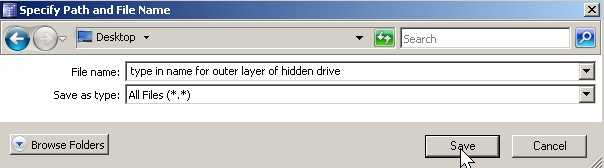 Name your file and click save in choosen folder.
