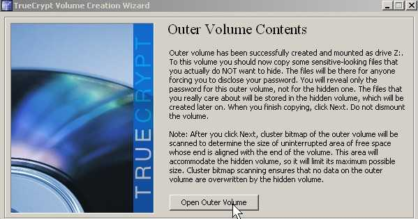 Add files to outer layer by pressing open outer volume button.