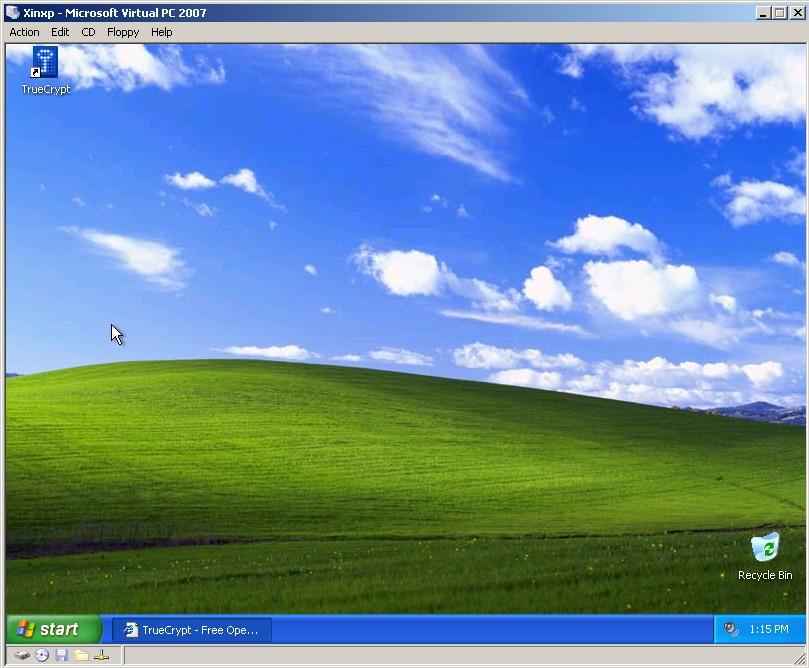 XP running in Virtual PC