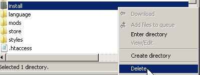 delete or rename your install directory on the root phpbb3 folder
