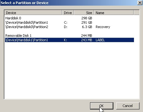 Pick the partition or drive you want to encrypt.