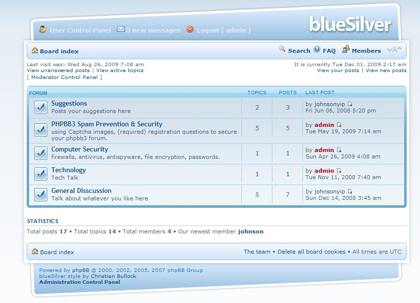 Go to your forum and check out your new theme