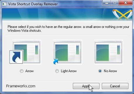 Vista Shortcut Overlay Remover