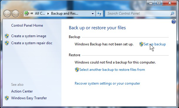 Backup and restore
