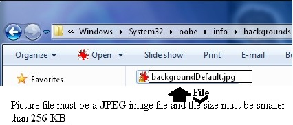 Copy and paste a JPEG file that is smaller then 256 KB into the folder.