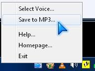 "select ""Save to MP3"