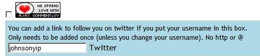 Comment luv twitterlink plugin