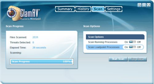 Flash Scan ClamAV Windows