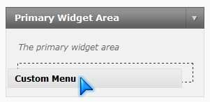 Drag your menu to widget area