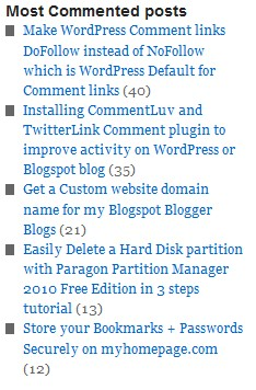 Most commented WordPress Plug-in