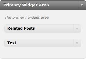 Widget container
