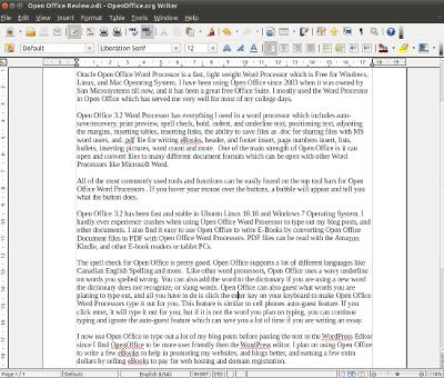 Oracle Open Office Word Processor 3.2, Best Free Word Processor Ever