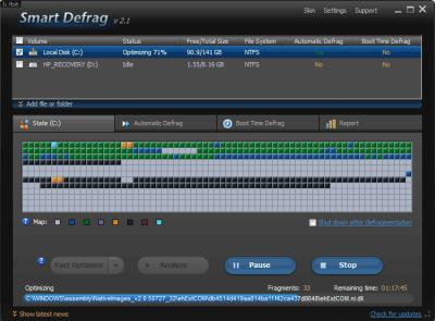Iobit SmartDefrag 2 Disk Defrag
