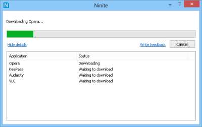 Use Ninite.com on Windows 8 to install multiple programs at once